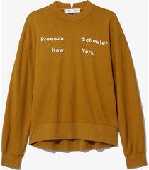proenza schouler white label logo sweatshirt moss/yellow m