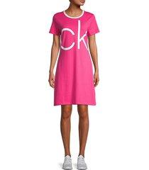 ck logo t-shirt dress