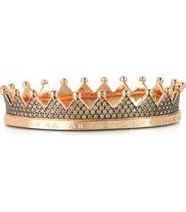 azhar designer bracelets, regno silver and zircon crown bracelet