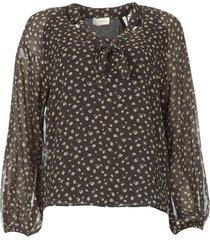 blouse met print juliette  zwart