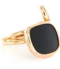 'amphibole' diamond jade 18k rose gold ring
