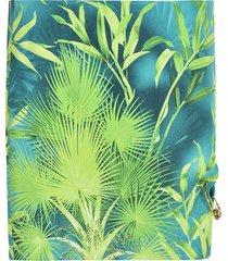 versace leaf printed skirt
