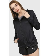 campera negra evolution x tenis