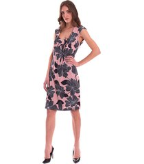 floral pink flared dress luckylu