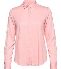g. feather weight twill blouse blouse lange mouwen roze gant