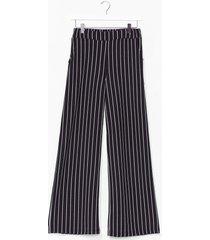 womens 'til we get it stripe wide-leg pants - black