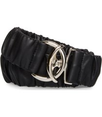 steve madden wide ruched belt