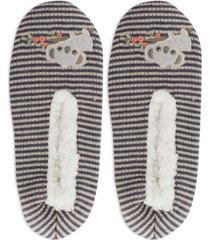 k. bell socks women's faux-fur lounging koala slippers