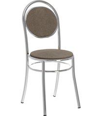 conjunto 2 cadeiras 190 napa móveis carraro marrom