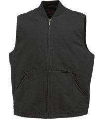 wolverine men's finley vest black, size xxl