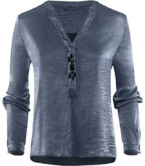 bl-512 blouse bloes jeans glanzend