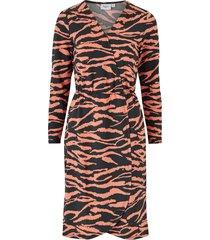 klänning tiger jersey wrap dress