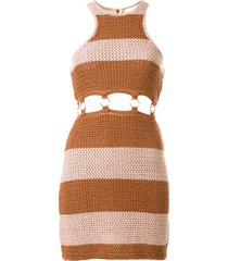 alice mccall stone roses mini dress - brown