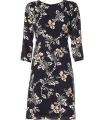 jurk met print fabius  zwart