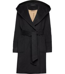 felice coat wollen jas lange jas zwart morris lady