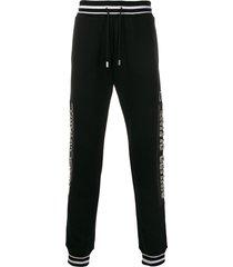 philipp plein cowboy track pants - black