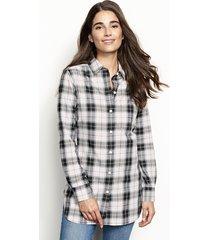 wrinkle-free plaid tunic shirt, natural plaid, 16