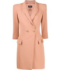 elisabetta franchi double-breasted tailored dress - pink