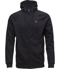 rival fleece fz hoodie hoodie trui zwart under armour