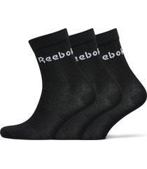 act core mid crew sock 3p underwear socks regular socks svart reebok performance