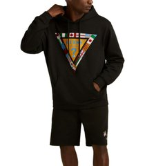 guess men's summer games triangle hoodie