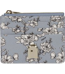 furla 1927 s floral print top zip card holder