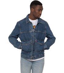 medium dark denim jacket