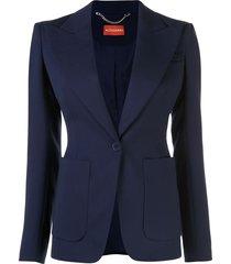 altuzarra slim fit blazer - blue