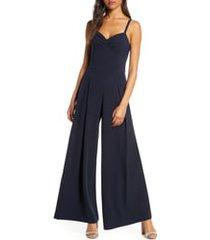 women's eliza j wide leg crepe jumpsuit