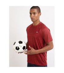 camiseta masculina esporte ace futebol estampada manga curta raglan gola careca vinho