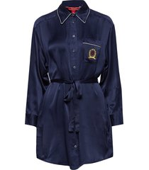 silk crest boyfriend tuniek blauw hilfiger collection