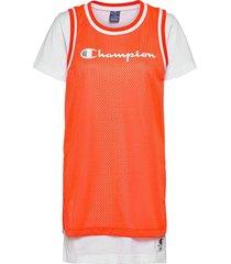 dress kort klänning orange champion