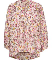 bohemian blouse blus långärmad multi/mönstrad by ti mo