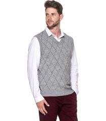 colete passion tricot jacar cinza