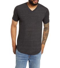 men's goodlife scallop triblend v-neck t-shirt, size small - black