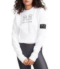 p.e nation women's sprint shot sweater - nude - size xl