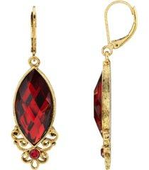 2028 14k gold dipped drop earring