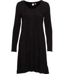 u-neck swing dress knälång klänning svart gap