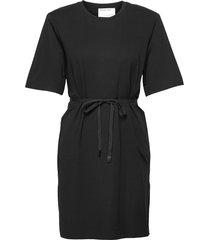 modena slit dress dresses everyday dresses svart designers, remix