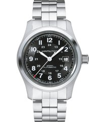 hamilton khaki field automatic bracelet watch, 42mm