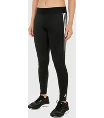leggings negro-blanco adidas performance alphaskin 3 rayas