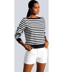 shirt alba moda wit::marine