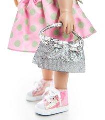 """the queen's treasures 18"""" doll clothes accessories, glitter designer shoulder handbag purse"""