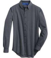 joe joseph abboud repreve® navy slim fit sport shirt