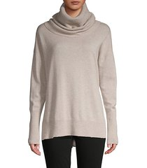 cowlneck wool & cashmere-blend sweater