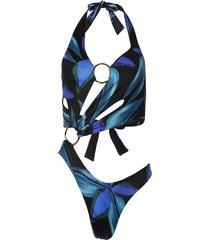 sex wax electric blue flower swimsuit