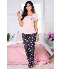 pijama mujer conjunto pantalón manga corta 11528