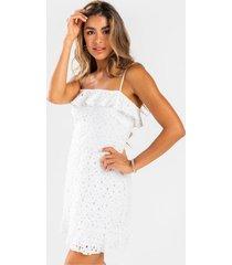 angelica eyelet mini dress - white