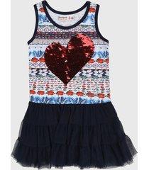 vestido azul-rojo-blanco desigual