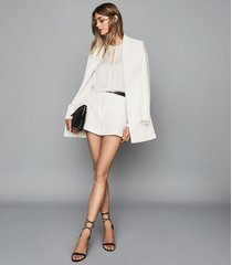 reiss lyla - tailored shorts in white, womens, size 12l
